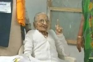 Gujarat elections: PM Modi's mother casts her vote in Gandhinagar
