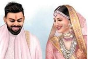 Actor Anushka Sharma picked a breathtaking Sabyasachi lehenga for her destination wedding with cricketer Virat Kohli in Florence on Monday.