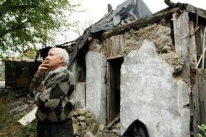 Photos: War-scarred neighbourhoods in Ukraine's Donetsk