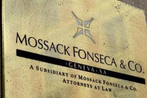 A plate of the Geneva office of the law firm Mossack Fonseca is seen on June 16, 2016 in Geneva. An information technology worker at the Geneva office of Mossack Fonseca, the law firm at the centre of the Panama Papers scandal, has been arrested.