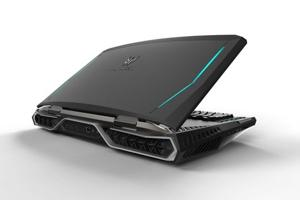 Acer Predator X21 gaming laptop with curved screen, eye-tracking tech...