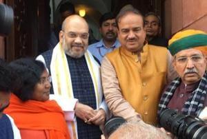 Amit Shah makes Rajya Sabha debut, gets front row seat next to PM...