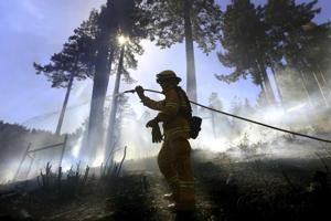 Firefighter assigned to largest California wildfire dies