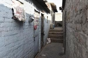 The house of the six-year-old girl who was murdered in Ghazipur in New Delhi.