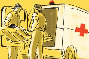 Three persons were killed when a police vehicle runs over bystanders in Tamil Nadu