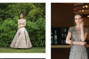 An exclusive shoot of five best  designer gowns for your engagement.