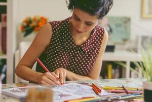 Is stress getting to you? Turn to colouring books and art therapy to...