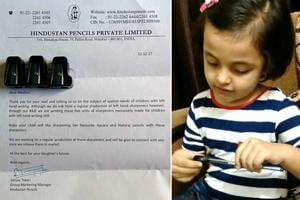 Left in the lurch: 4-year-old receives customised pencil sharpeners...