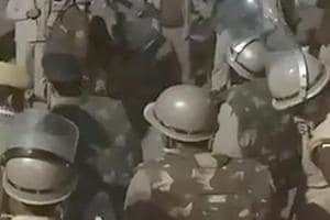 Many including policemen injured as reservation feud turns violent in...