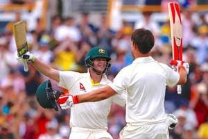Australia were 549/4 at stumps on Day 3 of the third Ashes Test against England in Perth on Saturday. Steve Smith was unbeaten on 229 while Mitchell Marsh was on 181.