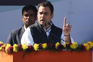 In first speech as Congress president,  Rahul Gandhi takes on PM Modi,...