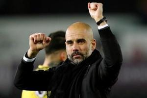 Manchester City manager Pep Guardiola said that his team's success in...
