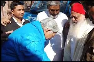 Former high court chief justice seeks Asaram Bapu's blessings in...