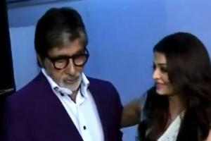 Watch video: Amitabh tells a bubbly Aishwarya to stop behaving like...
