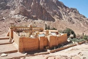 An ancient library housed in an Egyptian monastery reopens after...
