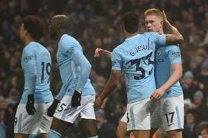 Manchester City beat Tottenham Hotspur 4-1 for 16th straight Premier...