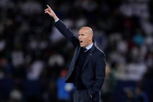 Real Madrid head coach Zinedine Zidane expressed his delight at...