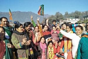 BJP leads in Himachal: Celebrations begin