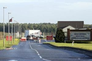 Shots fired at US base in England after 'car drives into gate'