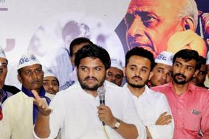 The improved tally for the Congress in North Gujarat showed that the coming together of Hardik Patel (with the mic), OBC leader Alpesh Thakor and Dalit activist Jignesh Mevani helped in moving youth votes away from the BJP.