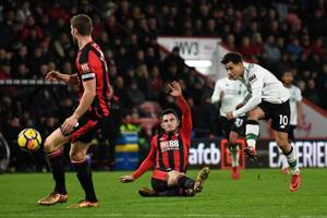 Liverpool beat Bournemouth 4-0 in Premier League as Phillippe Coutinho...