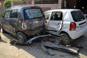 Ghaziabad: Rebuked, minor boy drives into parked cars, injures two