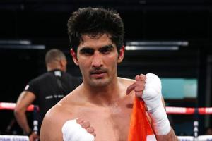 Vijender Singh is aiming for a perfect 10 in his WBO Asia Pacific super middleweight bout against Ernest Amuzu but he faces a potential challenge in Brijesh Kumar Meena.