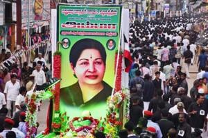 AIADMK supporters stage a