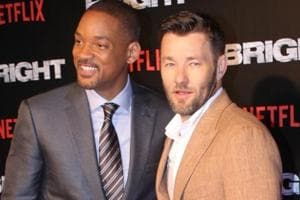Actors Will Smith and Joel Edgerton at the special screening of film Bright in Mumbai.