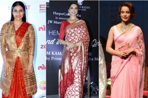 Actors like Kajol, Deepika Padukone and Kangana Ranaut are giving us major fashion inspiration in sarees.
