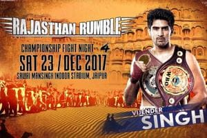 Vijender Singh's WBO Oriental & Asia Pacific Super middleweight pro...