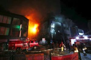 Blaze engulfs fitness centre in South Korea's Jecheon, at least 16...
