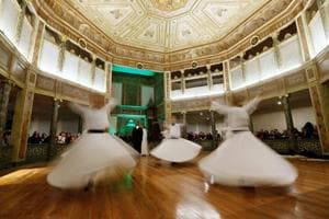 Photos: Turkey's dervishes whirl to commemorate Mevlana...