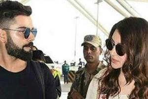 Virat Kohli, Anushka Sharma leave for Mumbai after wedding reception...