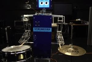 Meet Mortimer, the drumming robot who posts photos of jamming sessions...