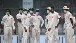 Indian cricket team's third Test against Sri Lanka at the Feroz Shah Kotla Stadium made headlines for the wrong reasons. Delhi's polluted air forced the visitors to wear masks during the match.