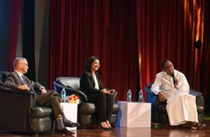 Former finance minister P Chidambaram, Infosys co-founder NR Narayana Murthy, and journalist Faye D