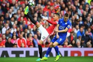 Manchester United's Chris Smalling looking forward to Jamie Vardy...