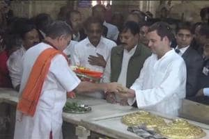 Rahul Gandhi begins his Gujarat visit from Somnath Temple, to assess...