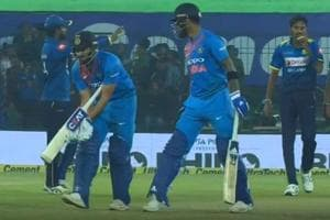 Rohit Sharma turns wicketkeeper to get MS Dhoni at the crease - Watch...