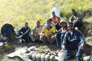 Skeletal remains of some of the 2013 disaster victims found in Rudraprayag district.