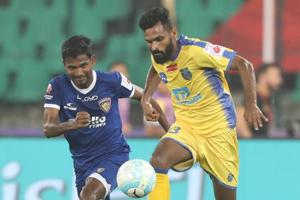 Kerala Blasters equalised late as they held Chennaiyin FC to a...