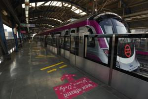Photos: Delhi Metro's Magenta line at first glance