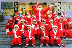 Photos: School kids celebrate Christmas in Punjab