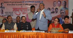 Uttarakhand CM launches BJP's funds collection drive on 'Samarpan...
