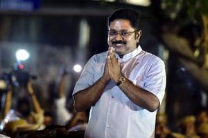 AIADMK leader T V Dhinakaran after winning RK Nagar constituency bypoll, in Chennai.