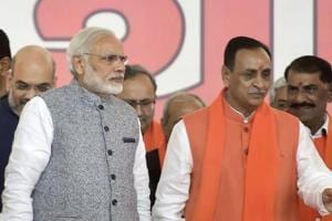 Low-profile RSS man Vijay Rupani back at the helm as Gujarat CM