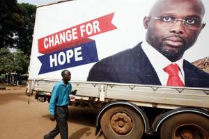 George Weah backers say ex-footballer poised for victory in Liberia...