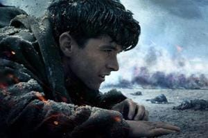 Fionn Whitehead in a still from Dunkirk.