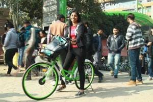 Gurgaon gets a #pollutionkasolution with bicycles that can be hired...